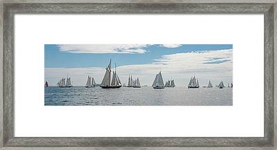 Framed Print featuring the photograph Schooners On The Chesapeake Bay by Mark Duehmig