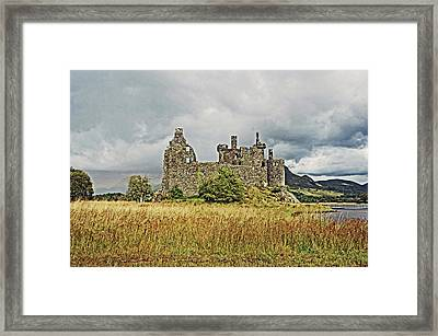 Scotland. Loch Awe. Kilchurn Castle. Framed Print