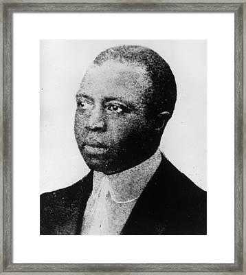 Scott Joplin Framed Print by Hulton Archive