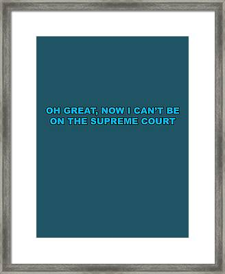 Scotus Framed Print