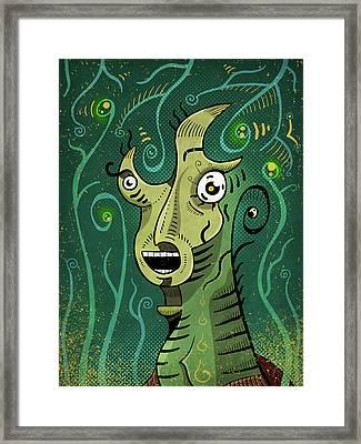 Framed Print featuring the digital art Scream by Sotuland Art