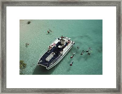 Scuba-diving Lesson Framed Print by Slim Aarons