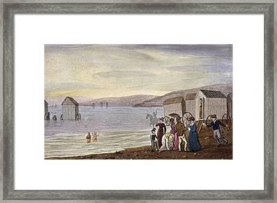 Sea Bathing Framed Print