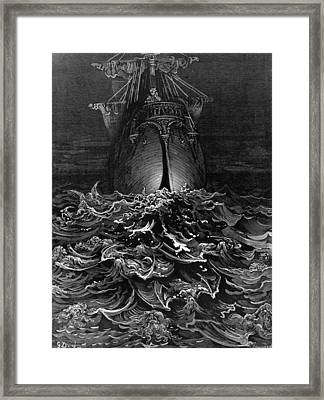 Sea Of Faces Framed Print by Hulton Archive