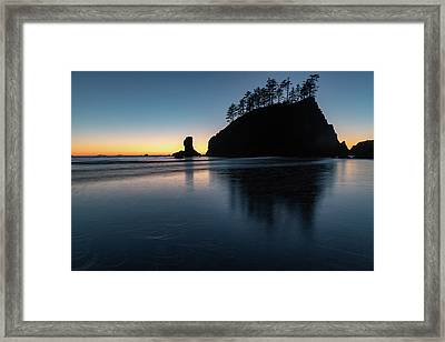 Sea Stack Silhouette Framed Print