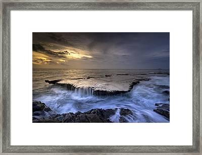 Sea Waterfalls Framed Print