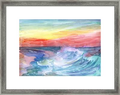 Sea Wave Framed Print