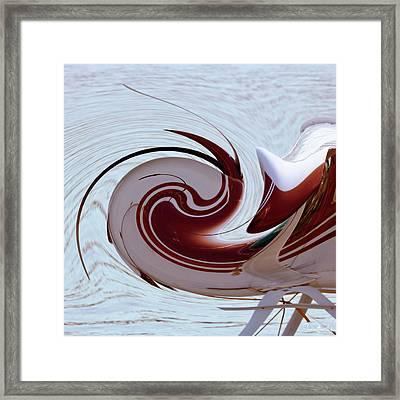 Seaplane Wave Framed Print