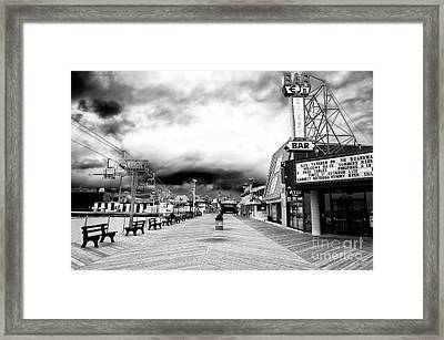 Seaside Heights Before The Crowds Framed Print