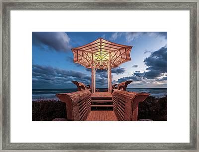 Seaside Pavilion On The Gulf Framed Print