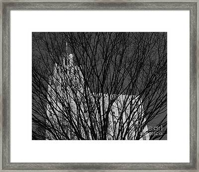 Framed Print featuring the photograph Seasonal View Bw by Patrick M Lynch