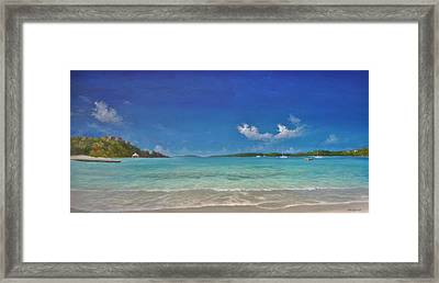 Secret Harbour Blue Framed Print