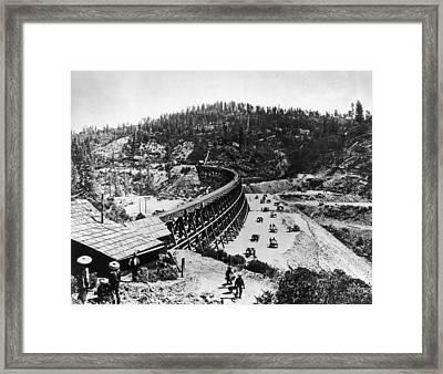 Secret Town Trestle Framed Print by Fotosearch