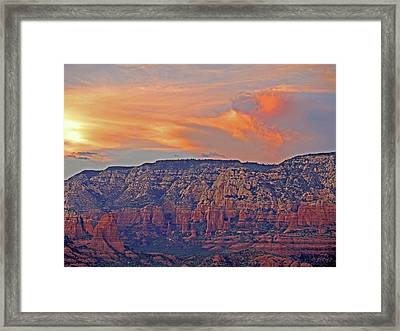 Framed Print featuring the mixed media Sedona Dusk 5 by Lynda Lehmann