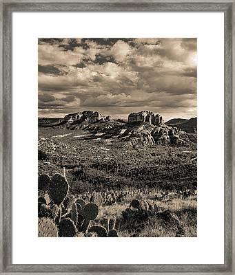 Sedona - View From The Airport Trail 2 Framed Print