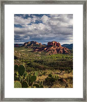 Sedona  - View From The Airport Trail Framed Print