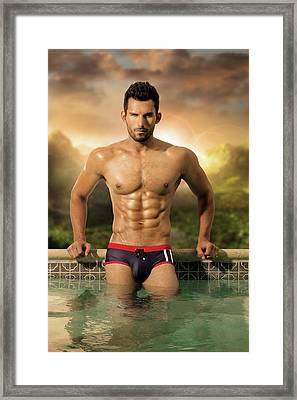 Seducing Sunshine Framed Print by MaleVision Studio