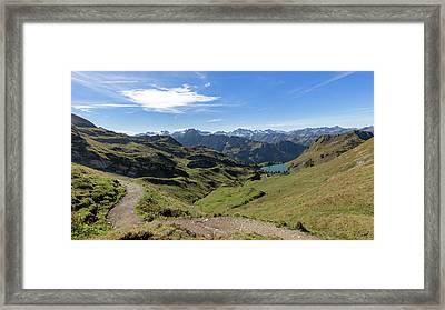 Framed Print featuring the photograph Seealpsee, Allgaeu Alps by Andreas Levi