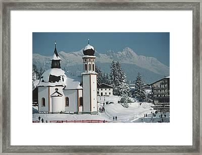 Seekirchl In Seefeld Framed Print by Slim Aarons