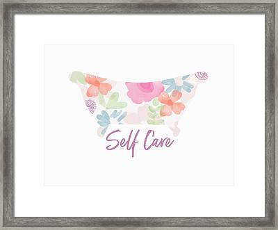 Framed Print featuring the mixed media Self Care- Art By Linda Woods by Linda Woods