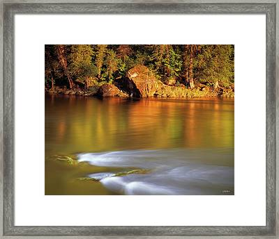 Selway River Framed Print by Leland D Howard