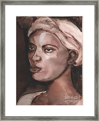 Sepia Woman Framed Print