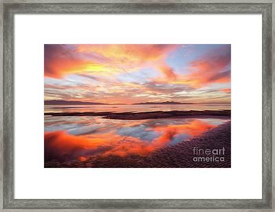 Framed Print featuring the photograph September Sunset by Spencer Baugh