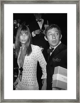 Serge Gainsbourg And Jane Birkin Framed Print