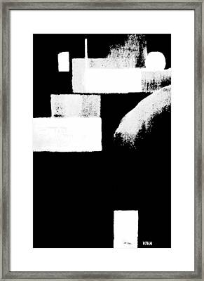Seriously Black And White Framed Print