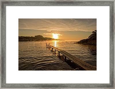 Sespanyol Beach In Ibiza At Sunrise, Balearic Islands Framed Print