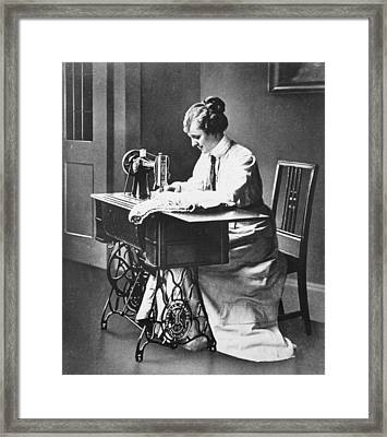 Sewing Machine Framed Print by Hulton Archive