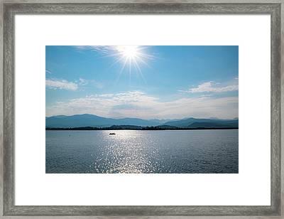 Shadow Mountain Lake Framed Print