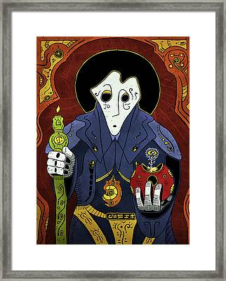 Framed Print featuring the painting Shadow Priest by Sotuland Art