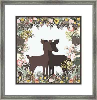 Shadowbox Deer Framed Print