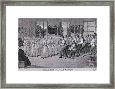 Shakers Near Lebanon Framed Print by Fotosearch