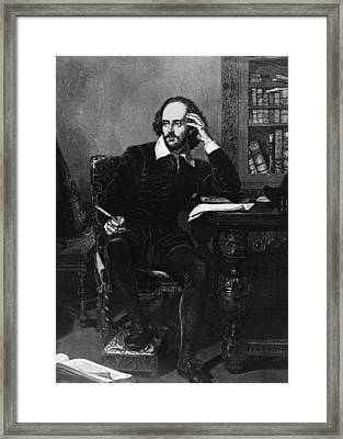 Shakespeare Framed Print by Hulton Archive
