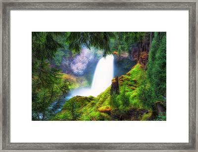 Shalie Waterfalls Framed Print