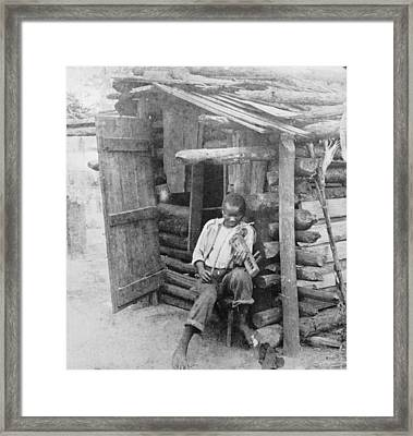 Shanty Musician Framed Print by O. Pierre Havens