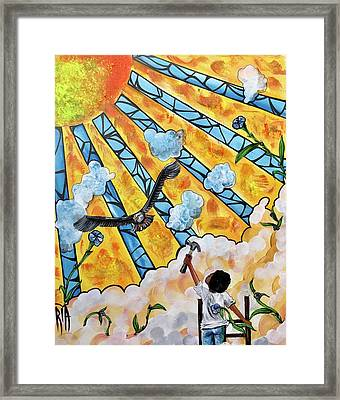 Shattered Skies Framed Print