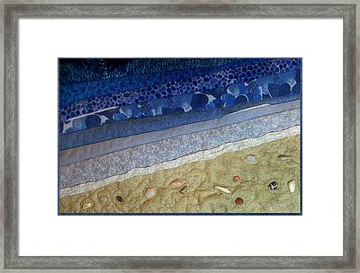 She Sews Seashells On The Seashore Framed Print