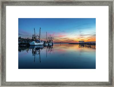 Shem Creek Blue Hour, Mt. Pleasant Sc Framed Print