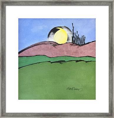 Shine On, Harvest Moon Framed Print