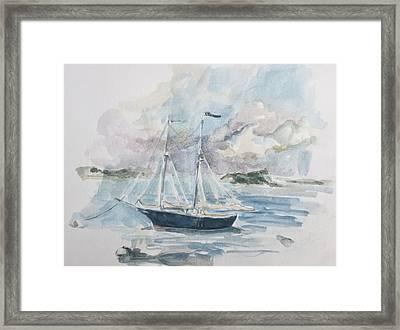 Ship Sketch Framed Print