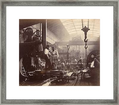 Shipbuilding Framed Print by Hulton Archive