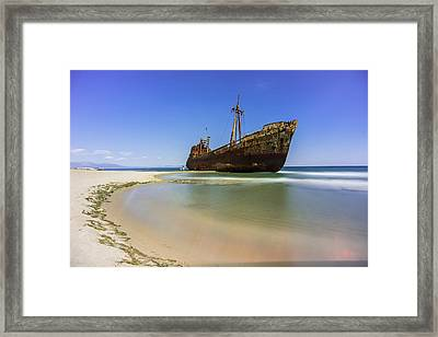 Shipwreck Dimitros Near Gythio, Greece Framed Print