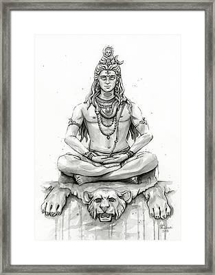 Shiva Portrait Framed Print