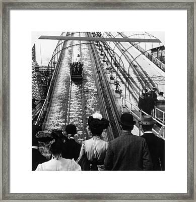 Shooting The Chutes Framed Print by Hulton Archive