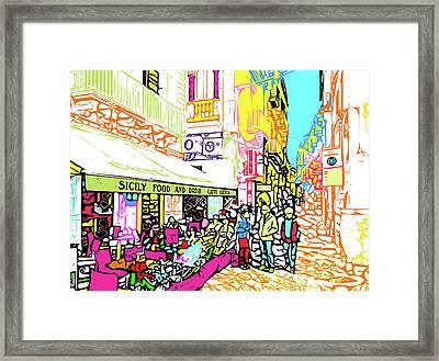 Sicilian Passeggiata Framed Print