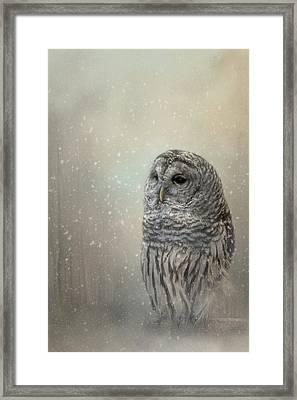 Silent Snow Fall Framed Print