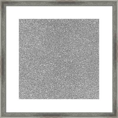 Silver Glitter  Framed Print